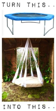 Quick Tip - Recycled Trampoline Hanging Bed! | The Garden ...