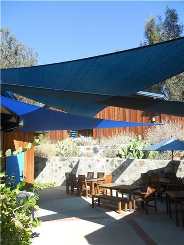 cover outdoor space with shade