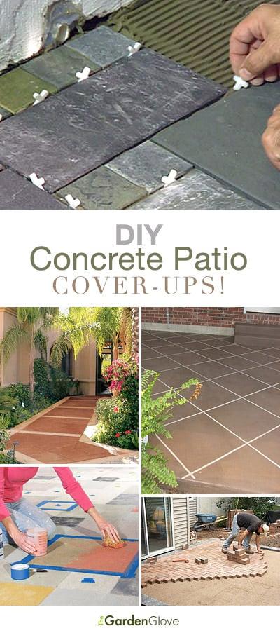 diy concrete patio cover up ideas the