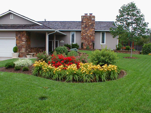 design island bed garden