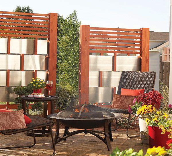 easy diy patio privacy screens the