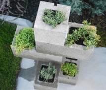 Diy Cinder Block Planter Garden Glove
