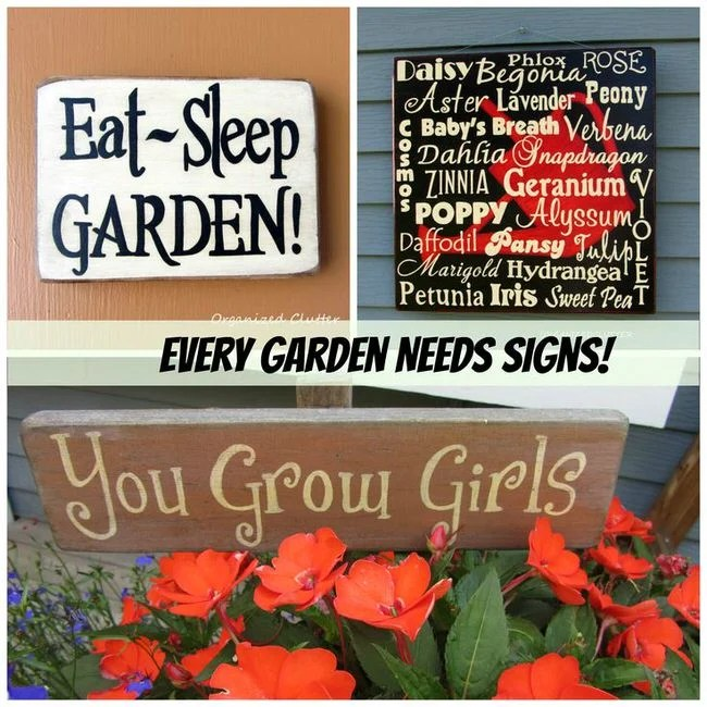 Creative Garden Sign Ideas And Projects – The Garden Glove