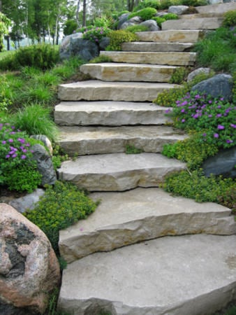 step diy garden steps