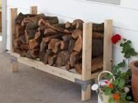 9 Super Easy DIY Outdoor Firewood Racks | The Garden Glove