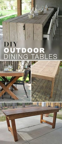 DIY Outdoor Dining Table Projects | The Garden Glove