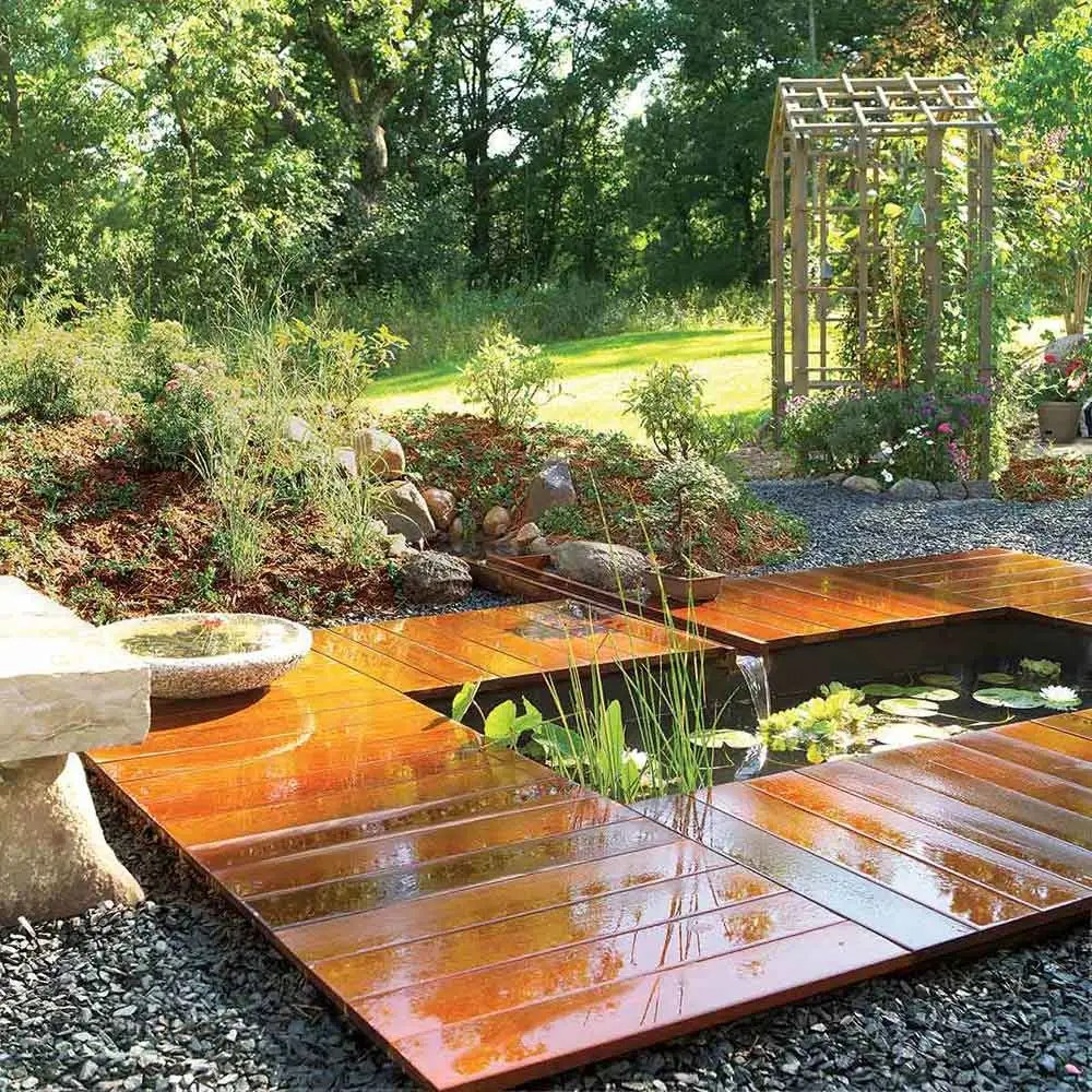 medium resolution of love the look of this backyard pond yes it s more expensive than mine but wow and it is still a simple project