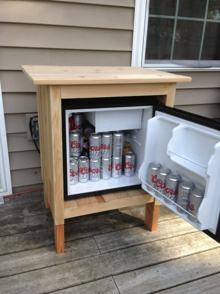 diy outdoor refrigerator cabinet DIY Outdoor Kitchens and Grilling Stations | The Garden Glove