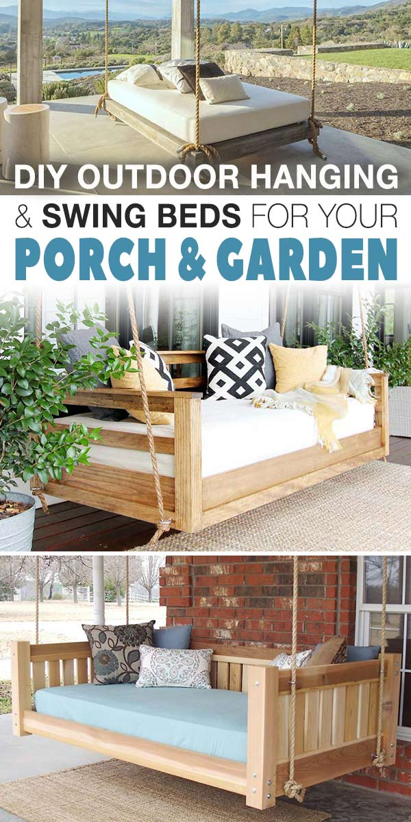 Diy Outdoor Hanging Swing Beds For Your Porch Garden The Garden Glove