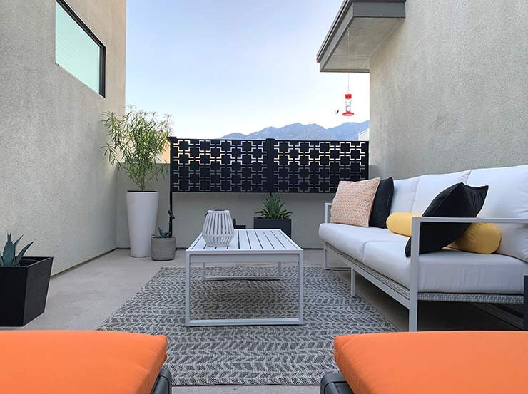 get the palm springs modern patio look