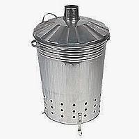 Dustbin Style Galvanised Garden Incinerator