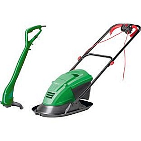 Qualcast Hover Lawnmower 900W and Grass Trimmer - 250W