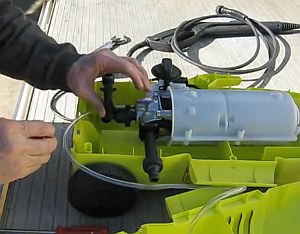 Fixing a leaking Karcher pressure washer, a video demonstration