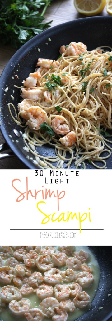 30 Minute Light Shrimp Scampi