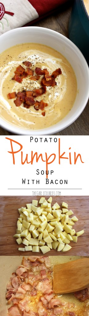 Potato Pumpkin Soup with Bacon