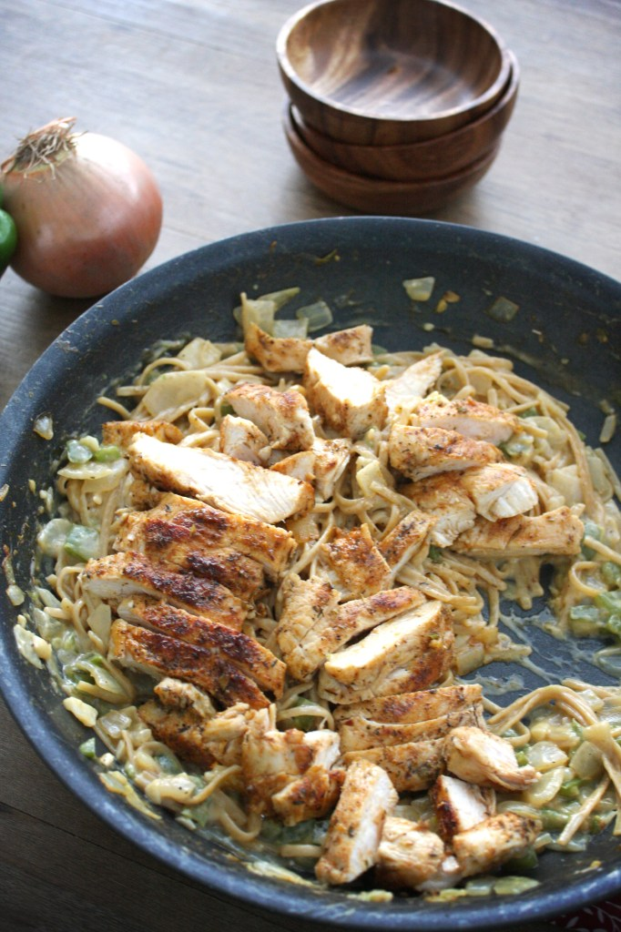 One Pot Secret Ingredient Cajun Chicken Pasta