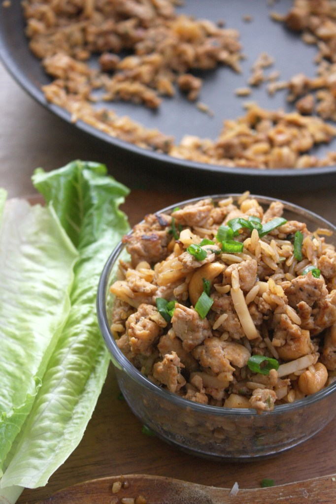 30 Minute Cashew Chicken Lettuce Wraps -- TheGarlicDiaries.com