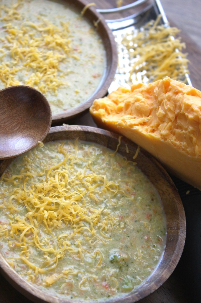 30 Minute Broccoli Cheddar Soup -- The Garlic Diaries