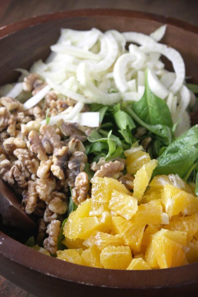 Orange, Fennel, and Walnut Salad with Citrus Vinaigrette -- TheGarlicDiaries.com