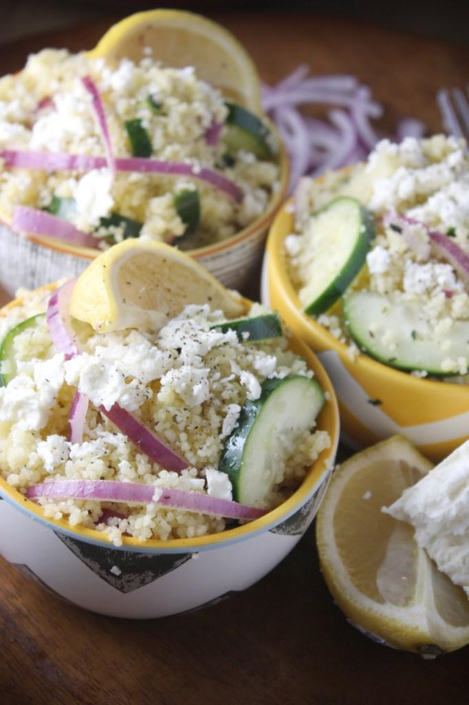 Mediterranean Cous Cous Salad -- TheGarlicDiaries.com