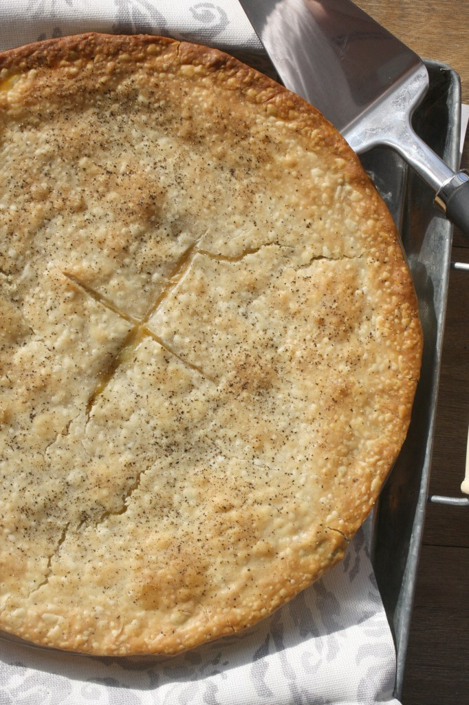 Chicken and Leek Pot Pie with Black Pepper Crust -- TheGarlicDiaries.com