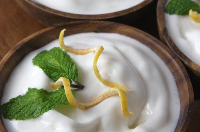 Grapefruit Honey Frozen Yogurt