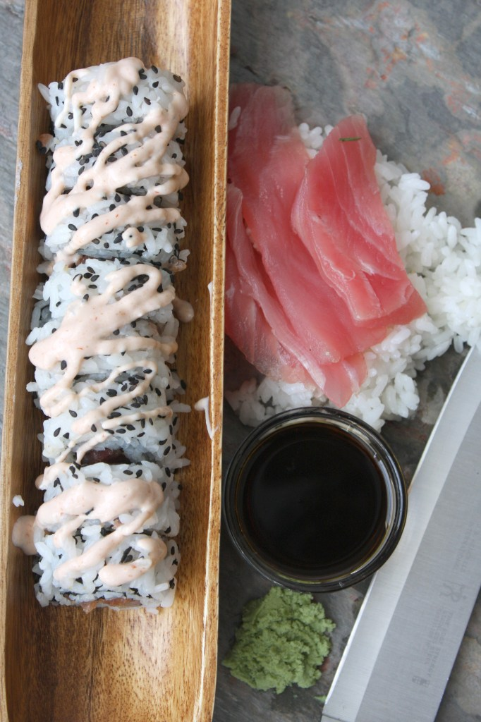 Spicy Tuna Roll -- TheGarlicDiaries.com