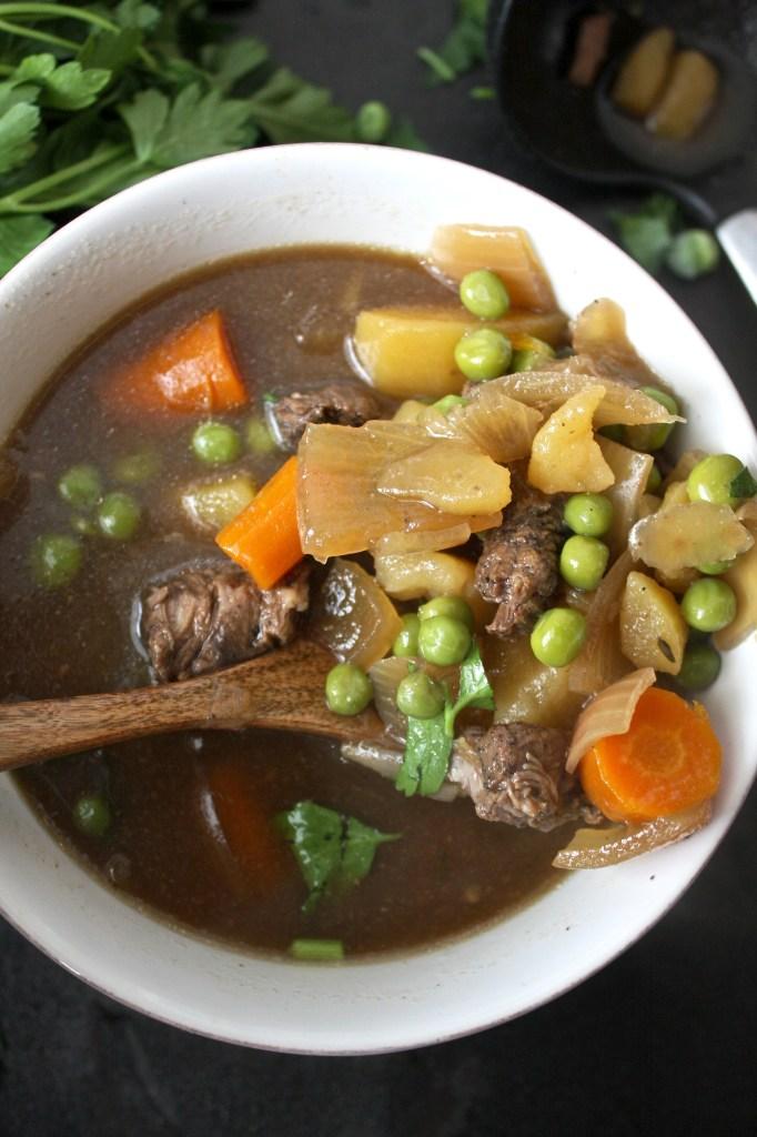 Crock Pot Pepper Beef Stew -- TheGarlicDiaries.com