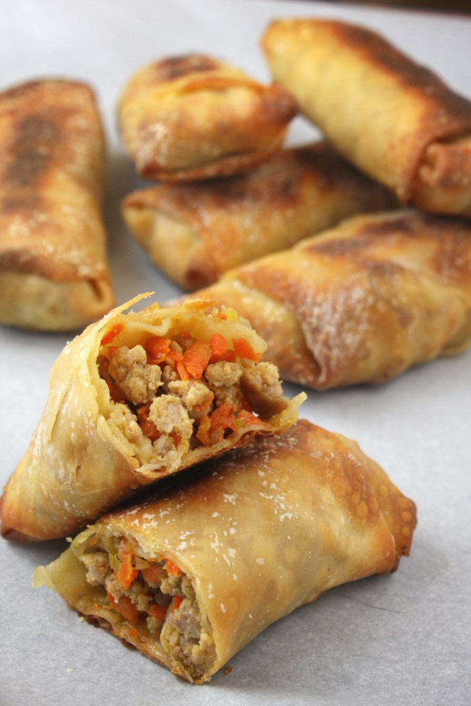 Baked Egg Rolls -- The Garlic Diaries