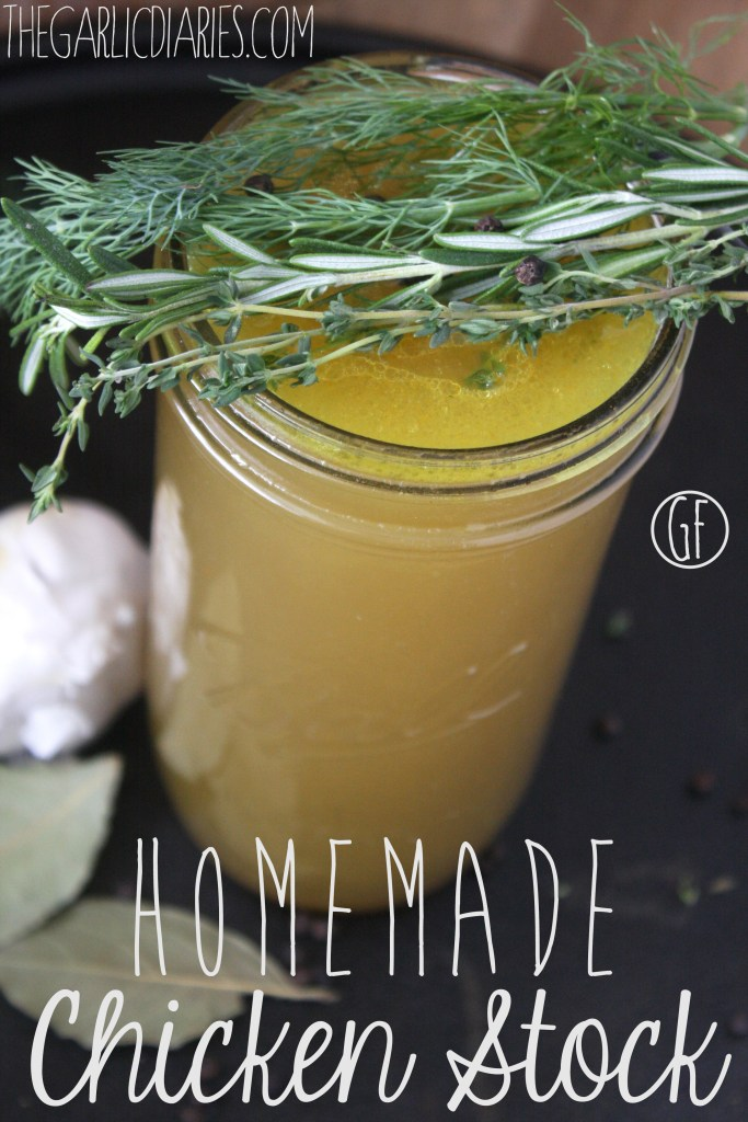 Homemade Chicken Stock -- TheGarlicDiaries.com