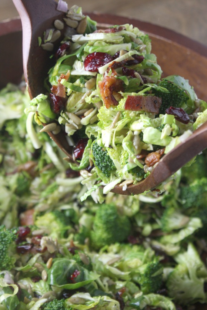 Broccoli and Brussels Sprout Salad with Citrus Vinaigrette -- TheGarlicDiaries.com