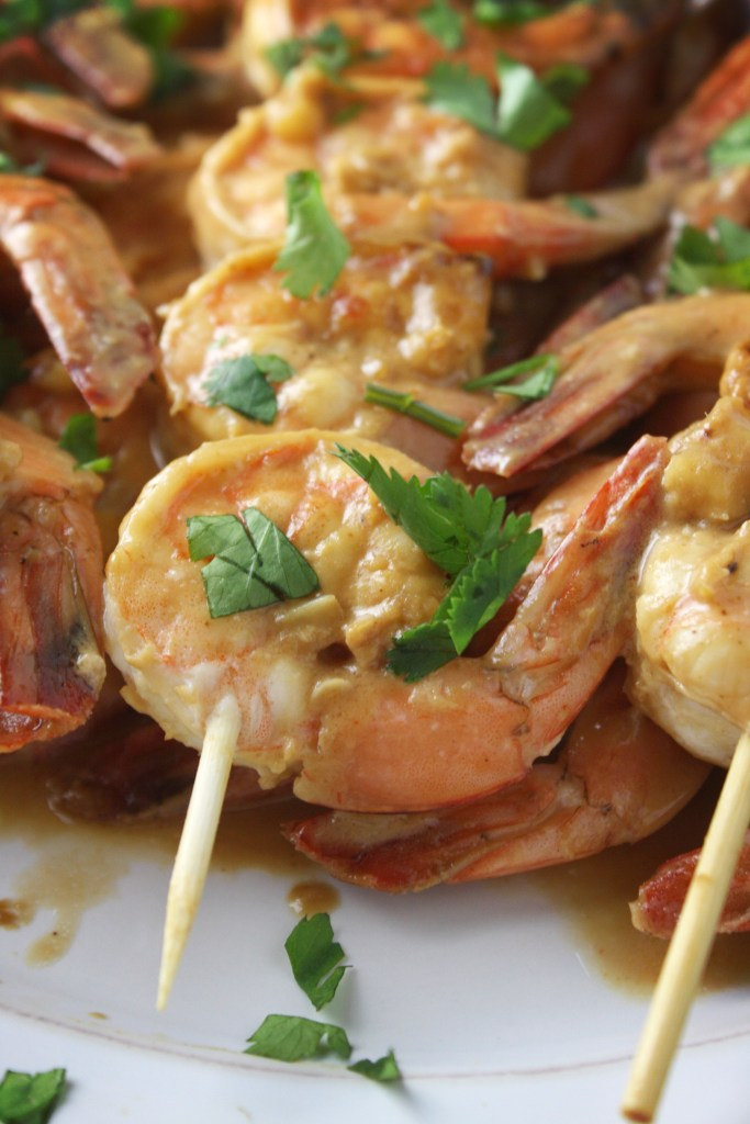 Peanut Lime Shrimp -- TheGarlicDiaries.com