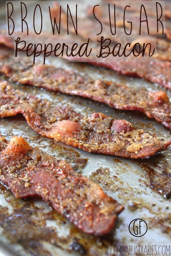 Brown Sugar Peppered Bacon -- TheGarlicDiaries.com