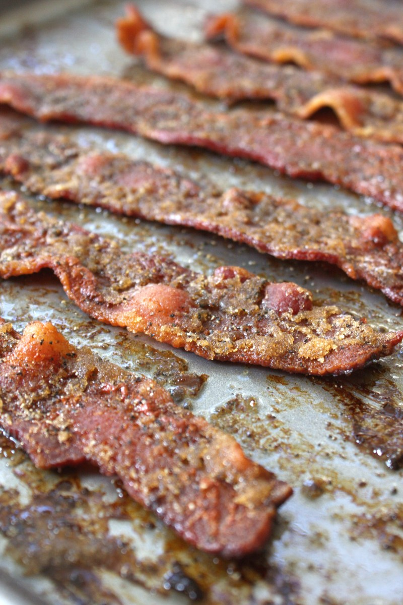 Brown Sugar Peppered Bacon