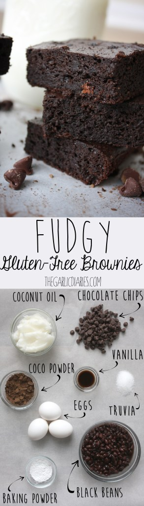 Fudgy Gluten-Free Brownies -- TheGarlicDiaries.com