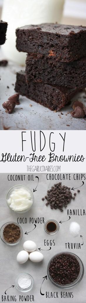 Fudgy Gluten-Free Brownies -- TheGarlicDiaries.com