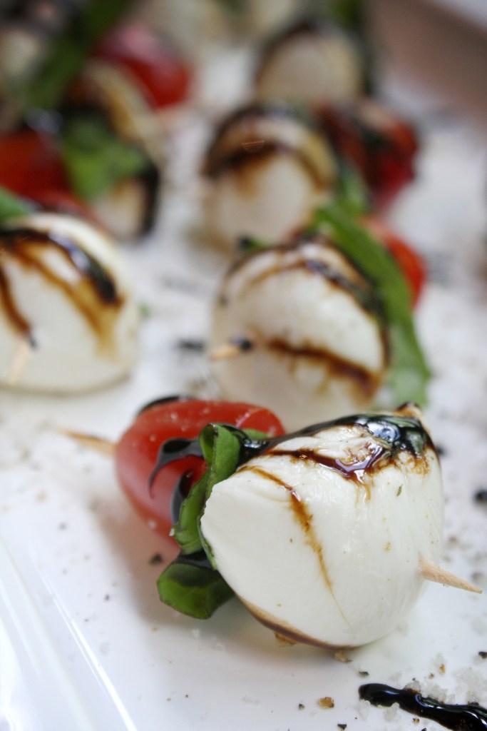 Caprese Salad Bites with Garlic Balsamic Reduction -- TheGarlicDiaries.com