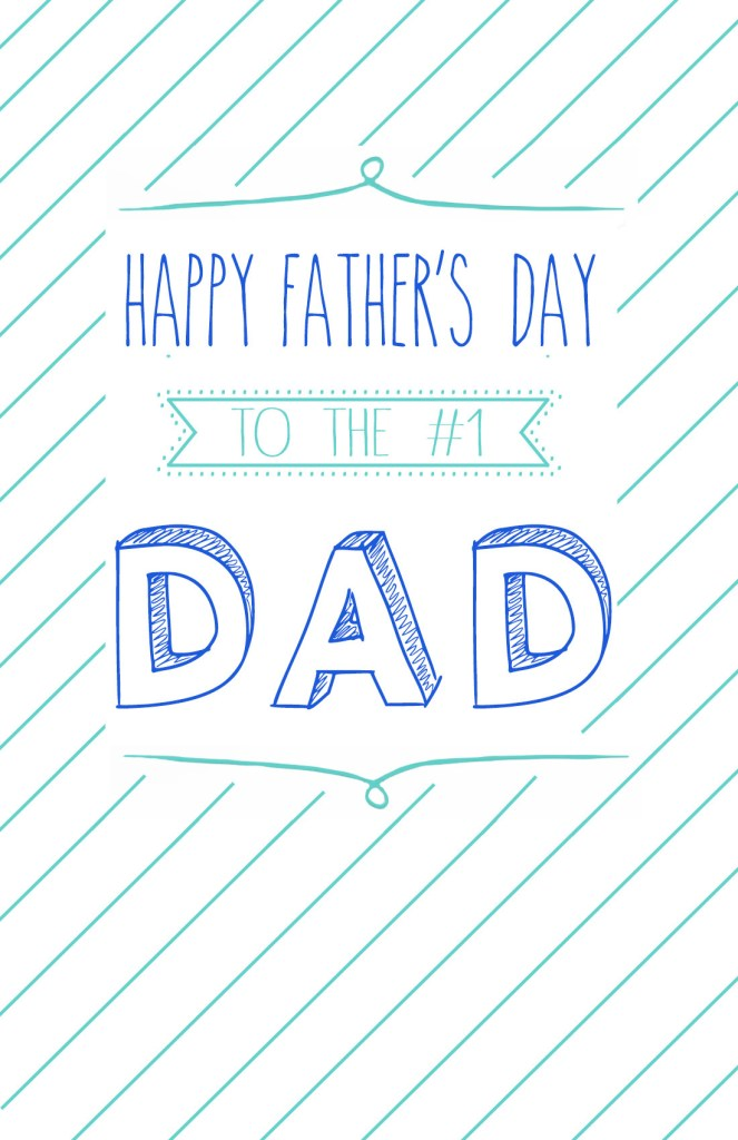 Free Printable Father's Day Cards -- TheGarlicDiaries.com