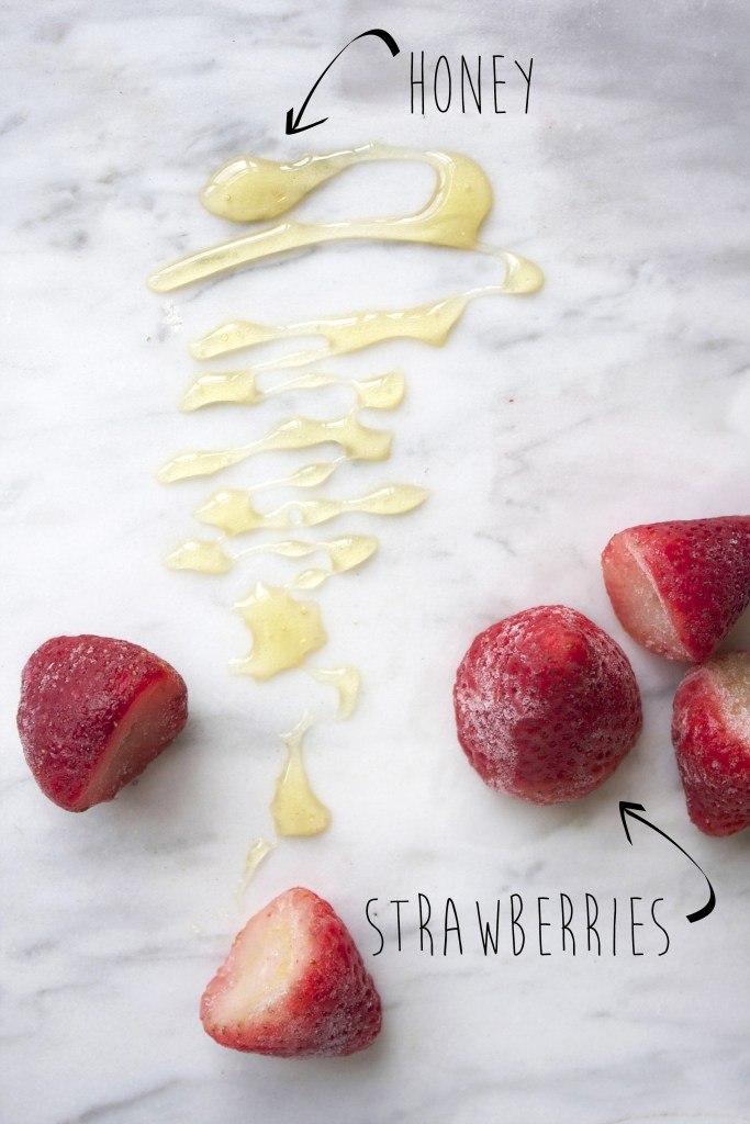 2 Ingredient, 5 Minute Strawberry Frozen Yogurt -- TheGarlicDiaries.com