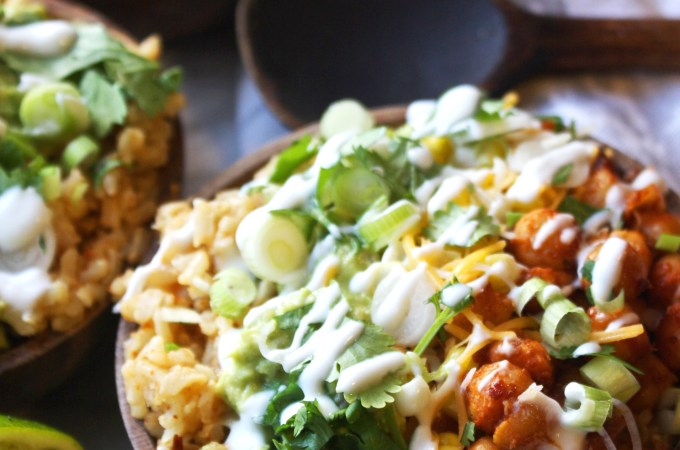 Spicy Chipotle Chickpea Burrito Bowls