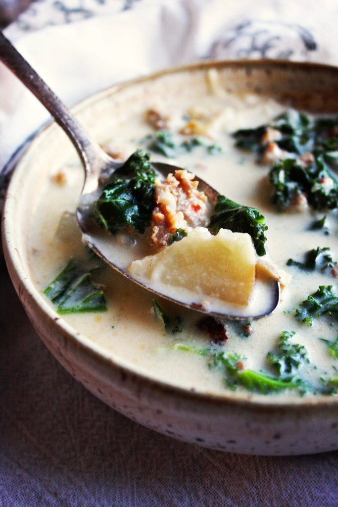 Zuppa Toscana - This at home version is even better than Olive Garden's! Save a few bucks and make this simple, mouthwatering soup at home. TheGarlicDiaries.com