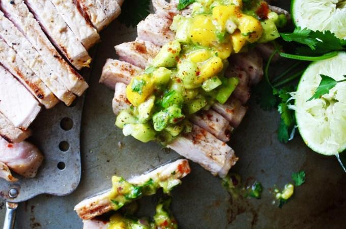 Flavor Bomb Pork Chops with Mango Salsa
