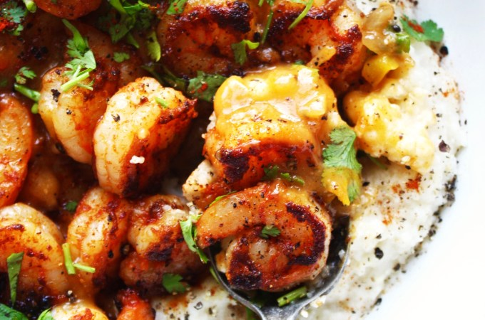 Cajun Style Shrimp and Grits – Lightened Up