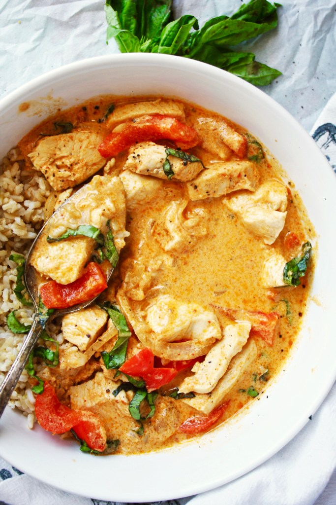Perfect 30 Minute Red Curry - The absolute, hands down BEST curry I have ever had, and it happens in your own kitchen in less than 30 minutes! TheGarlicDiaries.com