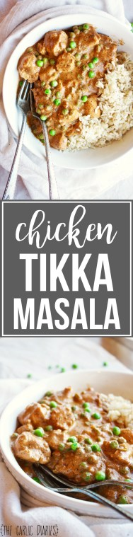 Chicken Tikka Masala - This recipe isn't hard to make, and the flavor is out of this world! #glutenfree TheGarlicDiaries.com