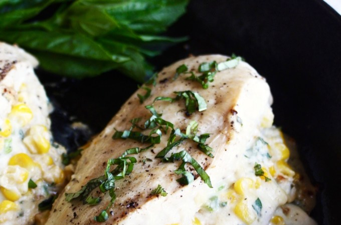 Cheesy Pepper Jack Corn Stuffed Chicken Breasts