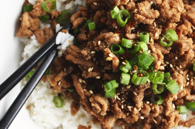 20 Minute Korean Ground Turkey Bowls