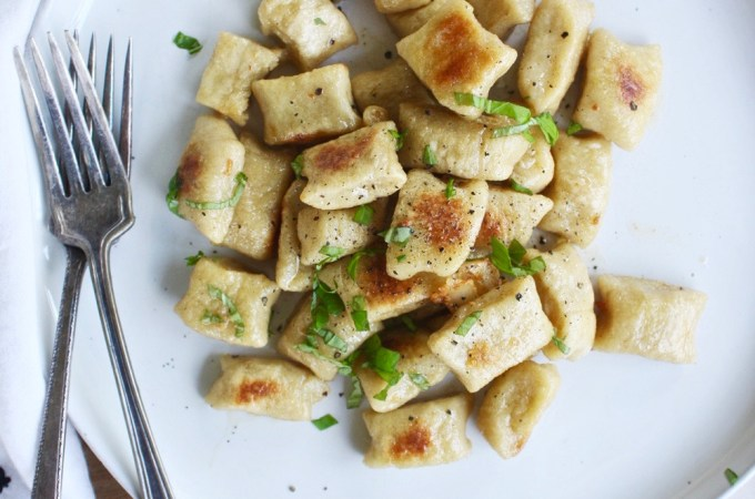 Cauliflower Gnocchi - Skip the potatoes and use cauliflower in your gnocchi instead! It's healthier, just as yummy, and fun to make! TheGarlicDiaries.com