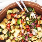 Grilled Spring Veggie Panzanella - If you are going to make ONE dish this entire spring season, make it this panzanella! This is seriously my favorite salad - period. So good! TheGarlicDiaries.com