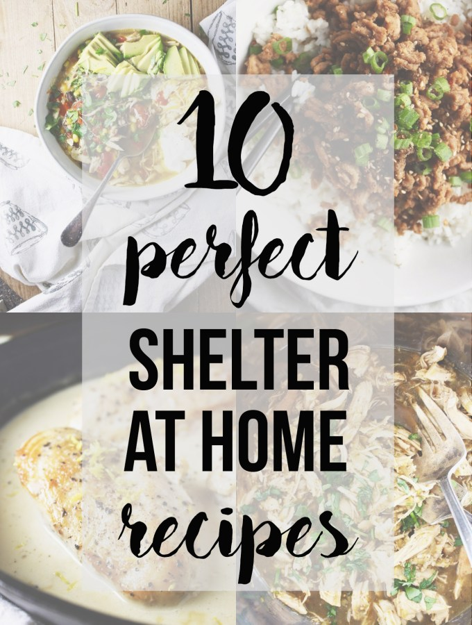We're all sheltering at home right now - aka quarantining - and these recipes are perfect for this strange time! All one pot, many under 30 minutes, lots with just a few ingredients, ALL crazy, crazy simple and easy. Because the last thing you need right now is to be stressed about dinner time! TheGarlicDiaries.com